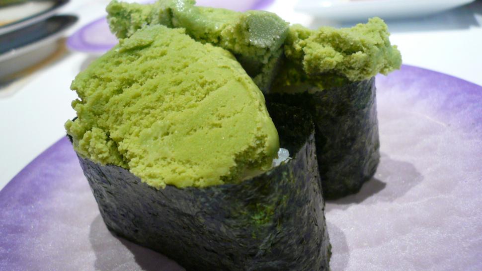 Crème glacée parfum sushis