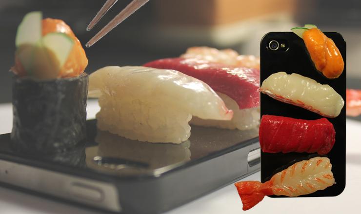 Coque téléphone version sushi