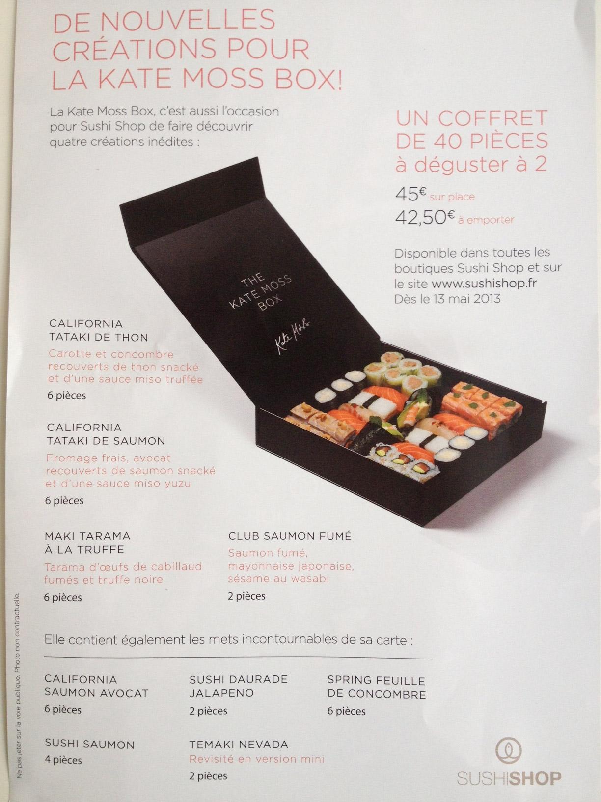 Kate moss box sushi shop