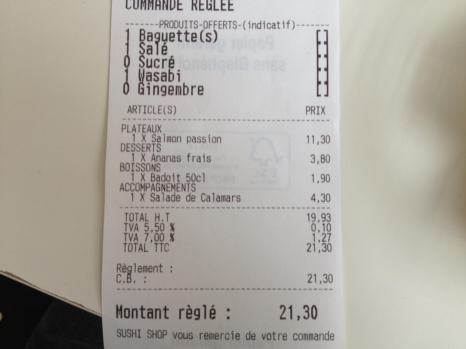 Sushi Shop à Paris 02