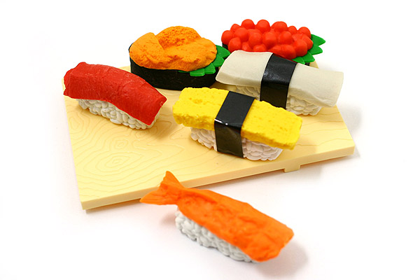 Gommes sushis