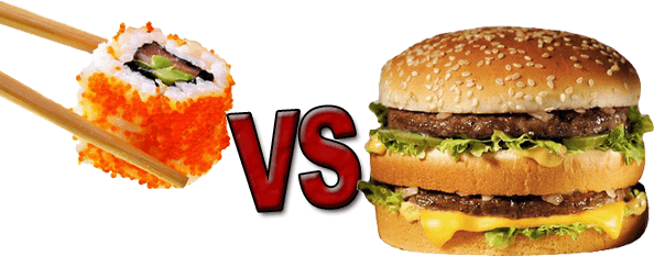 Sushis versus Big Mac