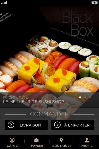 Sushi shop application iphone