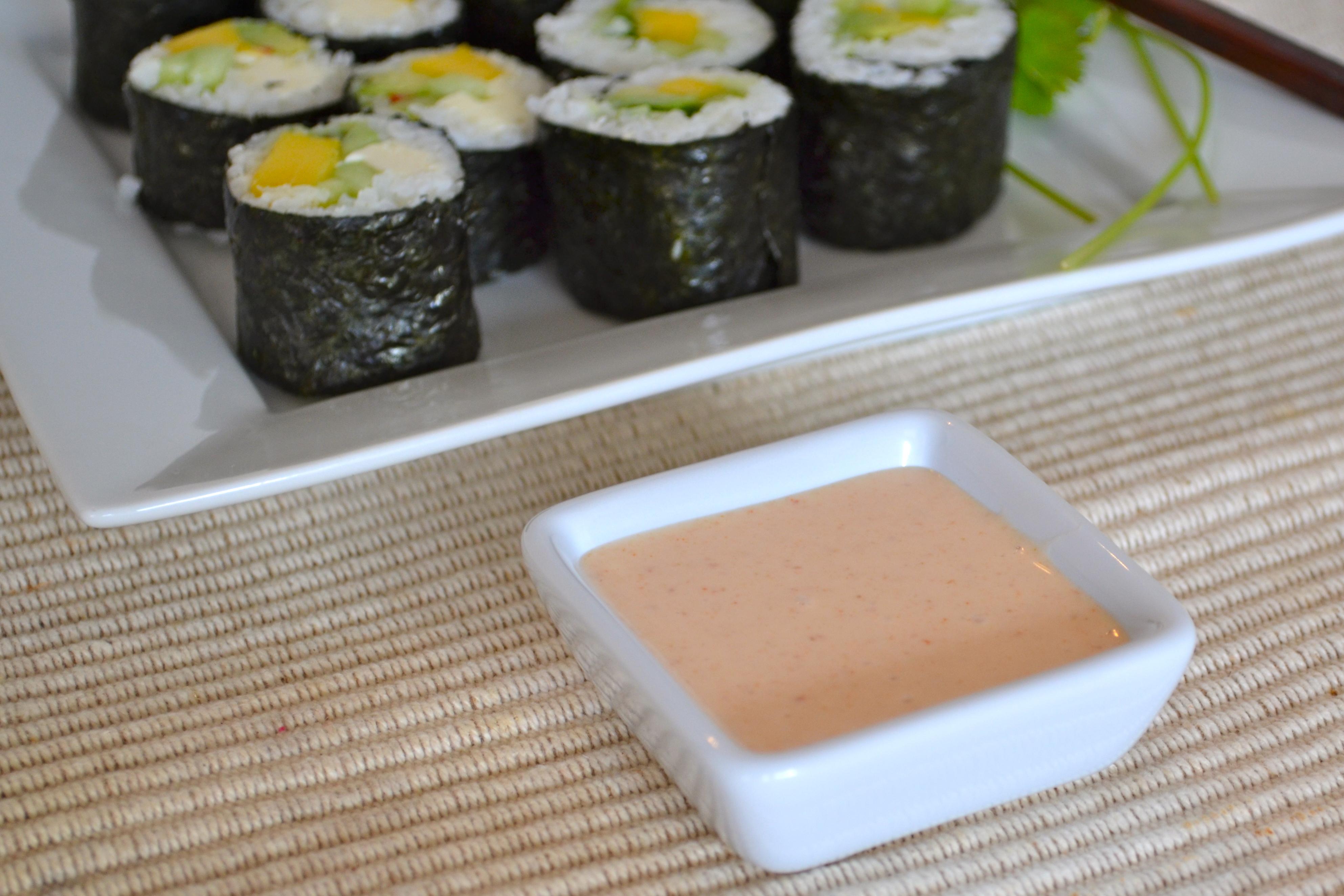 Mayonnaise épicée sushis