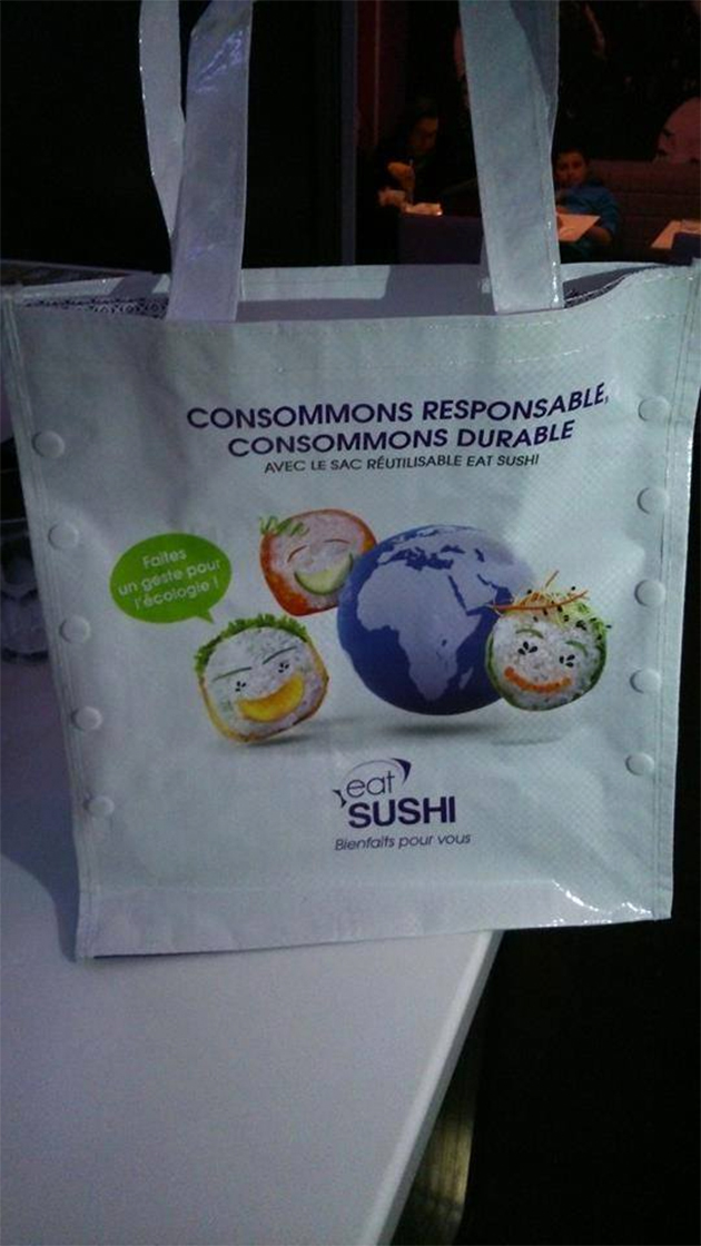 Eat Sushi lance son sac réutilisable