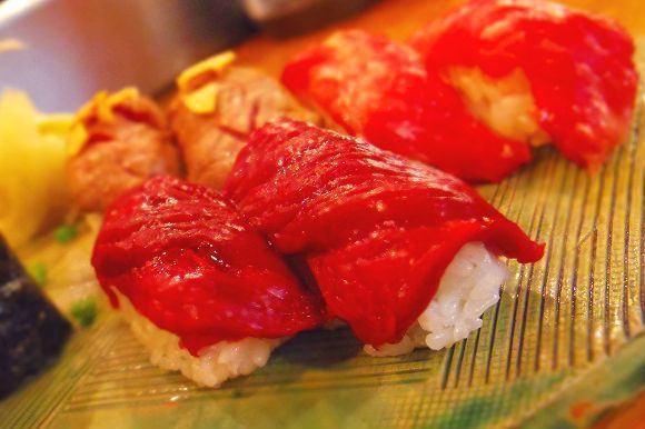 Sushi viande cheval