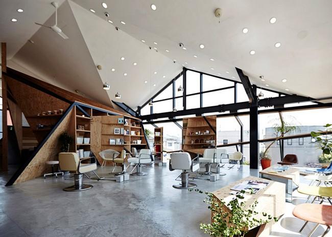 Salon de coiffure design restaurant japonais